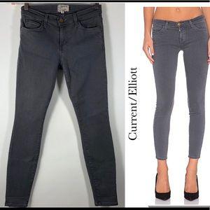 Current/Elliott The Stiletto Skinny Jeans Gunmetal